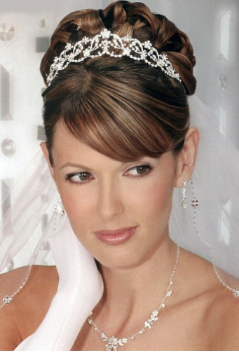 Traditional Special Occasion Hair With Fringe