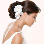 Bride or Bridesmaid hair with flowers