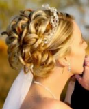 Special occasion hair with curls